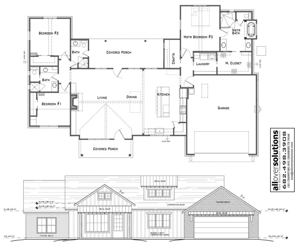 Texas Farm House Plan