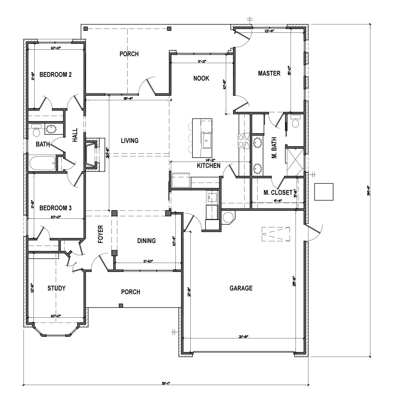 Floor Plan White Cottage Farmhouse